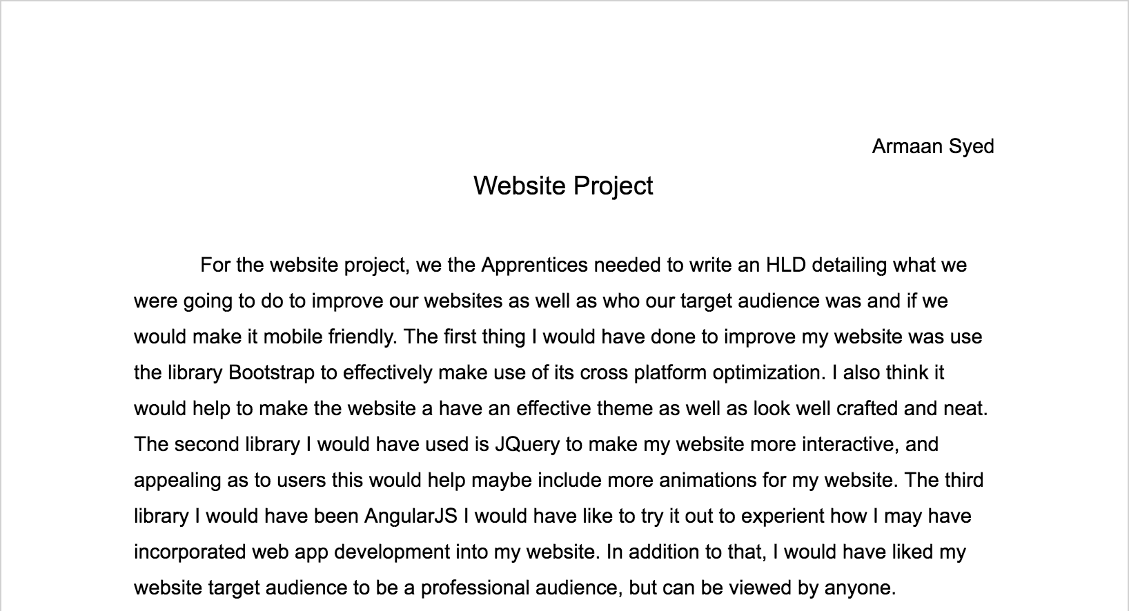 armaan s website this a website project i was not able to do due to time but here is an essay detailing what i would have done